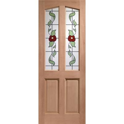 Hardwood Richmond External Door Timber Keats Single Glazed 7...