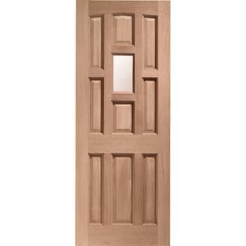 Hardwood York External Timber Door Obscure Single Glazed Wood 78x30 80x32 78x33