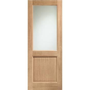 Oak 2XG External Door Wooden Timber Double Glazed Clear Glass 78x30 80x32 78x33