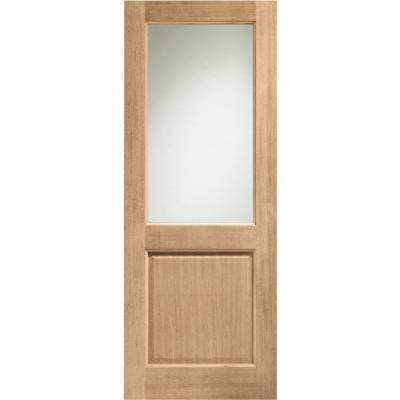 Oak 2XG External Door Wooden Timber Double Glazed Clear Glas...