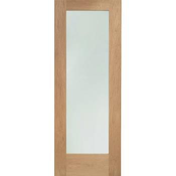 Oak Pattern 10 External Door Wooden Timber Double Glazed Clear 78x30 80x32 78x33