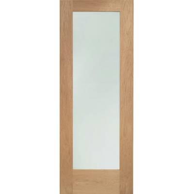 Oak Pattern 10 External Door Wooden Timber Double Glazed Clear - Door Size, HxW: