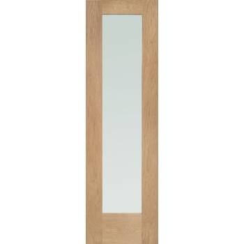 Oak Pattern 10 Side Light External Wooden Timber Glazed 78x23""