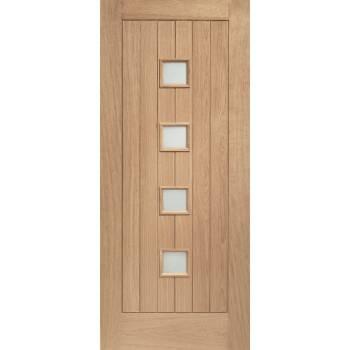 Oak Siena External Door Wooden Timber Double Glazed Obscure 78x30 80x32 78x33