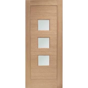 Oak Turin External Door Wooden Double Glazed 78x30 80x32 78x33 82x34 84x36