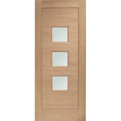 Oak Turin External Door Wooden Double Glazed - Door Size, HxW: