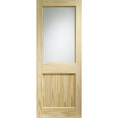 Softwood 2XG External Door Wooden Timber Single Glazed Clear...