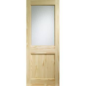 Softwood 2XG External Door Flemish Glass