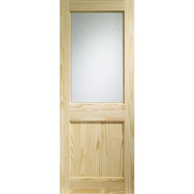 Softwood 2XG External Door Wooden Timber Single Glazed Flemi...