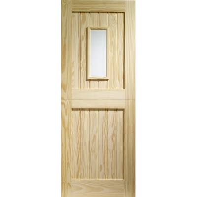 Pine 1 Light Stable External Door Timber Clear Single Glazin...