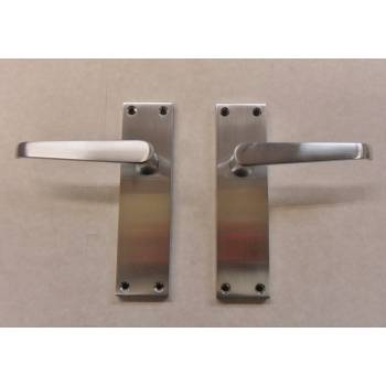 Cezanne Victorian Satin Chrome Finish Internal Door Handle Lever Latch
