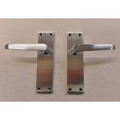 Cezanne Victorian Satin Chrome Finish Internal Door Handle L...