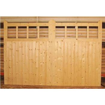 "Driveway Gate Bespoke Softwood Wooden 600 Pair Timber Gates 84""x120"""