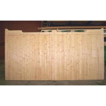 "Bespoke Softwood Gunstock Gates 84""x108"" Wooden Timber Driveway"