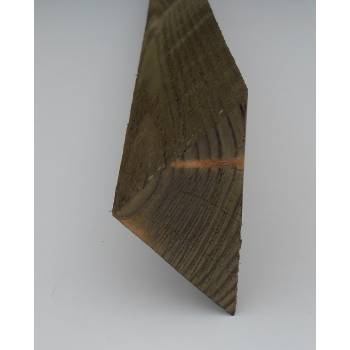 Arris Rail 2.4m Tilt Fillet Fencing Treated Wooden Timber