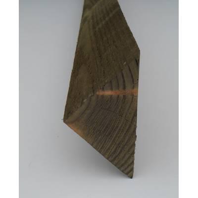 Arris Rail 2.4m Tilt Fillet Fencing Treated Wooden Timber - ...