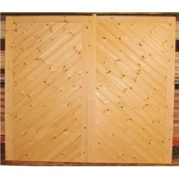 "Driveway Gate Bespoke Wooden Timber Herringbone Softwood Gates 84""x120"""