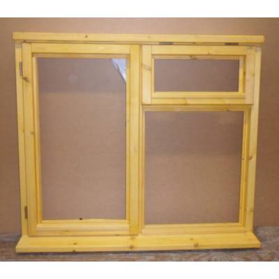 1195x895mm Plain Casement Timber Window - W209CV - Handing (externally viewed):