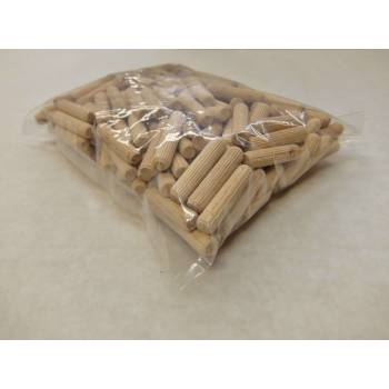M8 x 35mm Hardwood Dowels Wooden Fluted Pins Wood Pegs Packs of 50 or 200