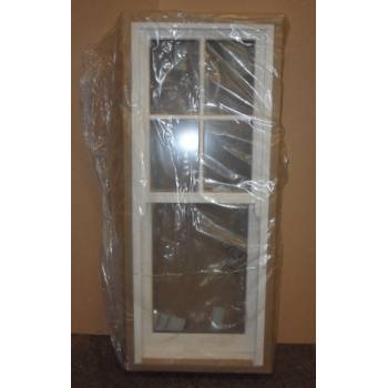 630x1500mm White Pre-Finished Wooden Timber Window Sliding Sash Cottage NAT021