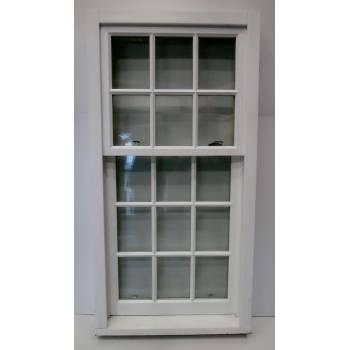 Hardwood Wooden Timber Hadwood Sliding Sash Window Double Glazed  877x1723mm NATJ04