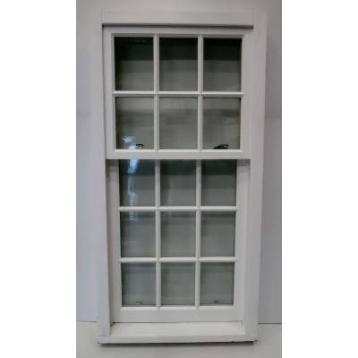 Hardwood Wooden Timber Hadwood Sliding Sash Window Double Glazed  877x1723mm NATJ04
