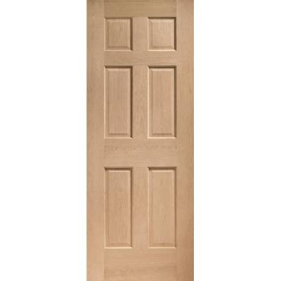 Oak Colonial 6 Panel Internal Door Wooden Timber Interior - ...