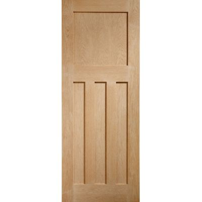 Oak DX Internal Door Wooden Timber Interior - Size, HxW: ...