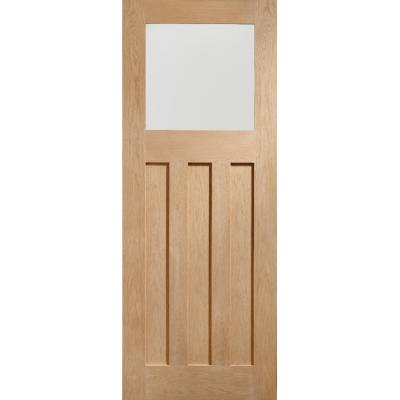 Oak DX Obscure Glazed Internal Door Wooden Timber Interior -...