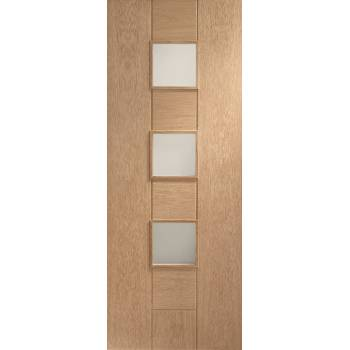Oak Messina Internal Obscure Glazed Door Wooden Timber Interior