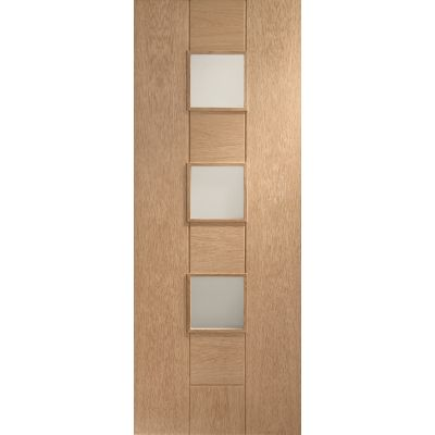 Oak Messina Internal Glazed Door Wooden Timber Interior - Si...