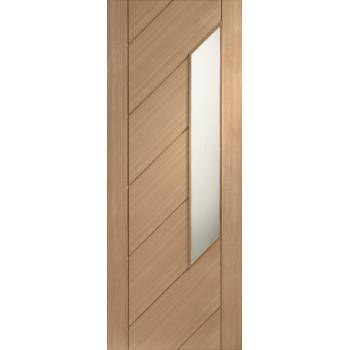 Oak Monza Internal Glazed Door Wooden Timber Interior