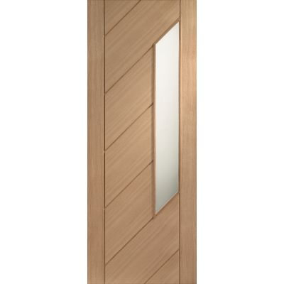 Oak Monza Internal Glazed Door Wooden Timber Interior - Size...