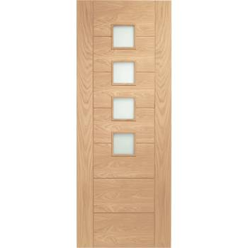 Oak Palermo Internal Glazed Door Wooden Timber Interior