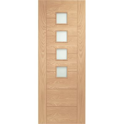 Oak Palermo Internal Glazed Door Wooden Timber Interior - Si...