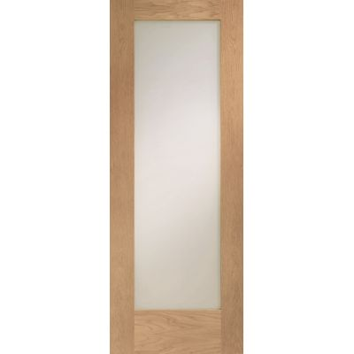 Oak Pattern 10 Clear Glazed Patt Internal Door Wooden Timber...