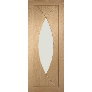 Oak Pesaro Internal Glazed Door Wooden Timber Interior