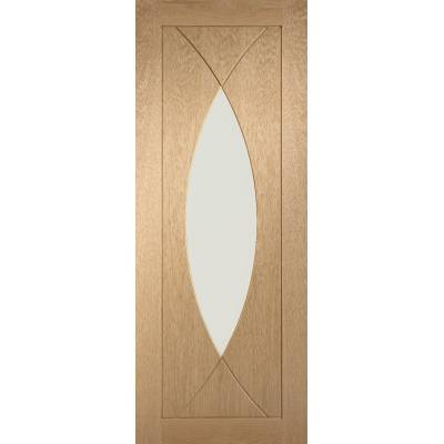 Oak Pesaro Internal Glazed Door Wooden Timber Interior - Siz...