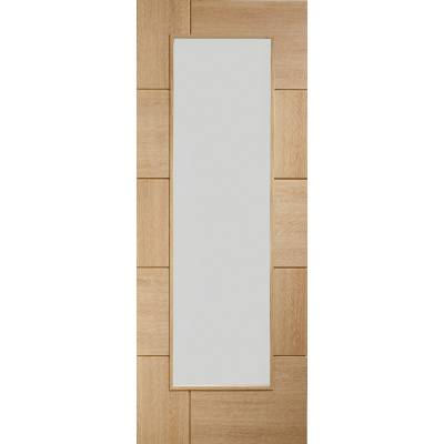 Oak Ravenna Clear Glazed Internal Door Wooden Timber Interio...