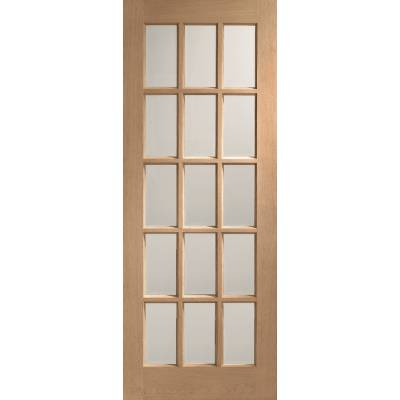 Oak SA77 Internal Glazed Door Wooden Timber Interior - Size,...