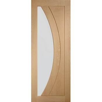 Oak Salerno Internal Glazed Door Wooden Timber Interior
