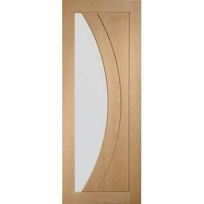Oak Salerno Internal Glazed Door Wooden Timber Interior - Si...
