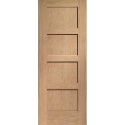 Oak Shaker 4 Panel Internal Door Wooden Timber Interior - Si...
