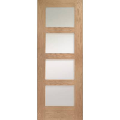 Oak Shaker Internal Glazed Clear Door Wooden Timber Interior...