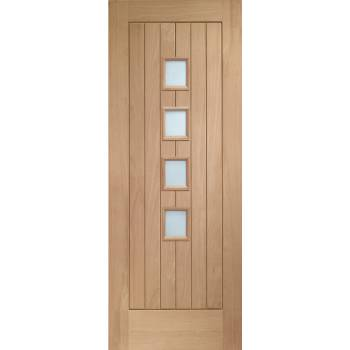Oak Suffolk 4 Light Internal Door