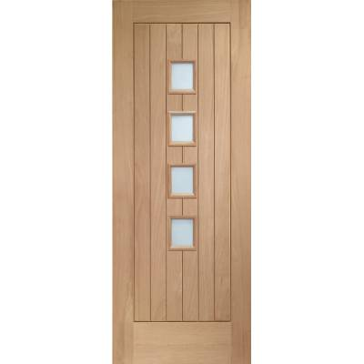 Oak Suffolk 4 Light Internal Door Wooden Timber Interior - S...