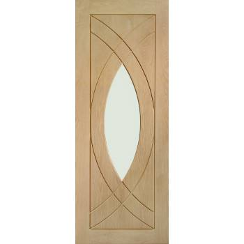 Oak Treviso Internal Glazed Door Wooden Timber Interior