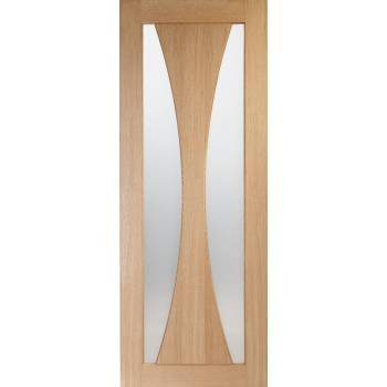 Oak Verona Internal Clear Glazed Fire Door Wooden Timber Interior