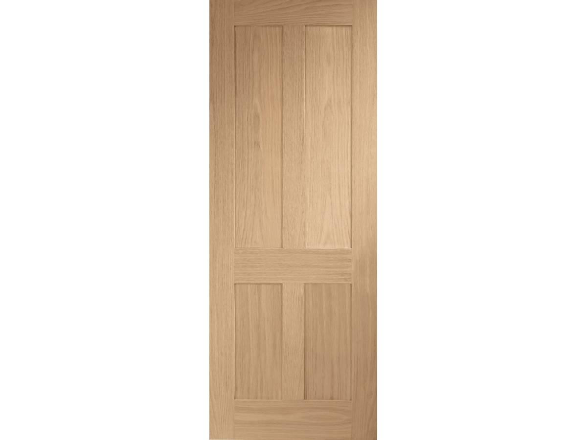 Oak Victorian 4 Panel Shaker Internal Door Wooden Timber Interior
