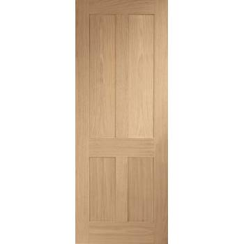 Oak Victorian Shaker 4 Panel Internal Fire Door Wooden Timber Interior
